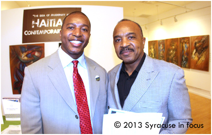 Ahmeed Turner, Scholarship Director, Say Yes (Syracuse) with his father Rev. Phil Turner.