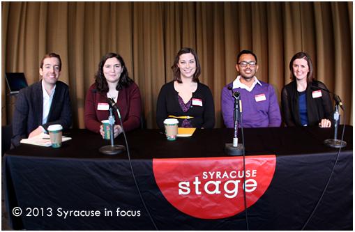 Social Media Breakfast Syracuse #10 Panel (with moderator Patrick Finlon, left)