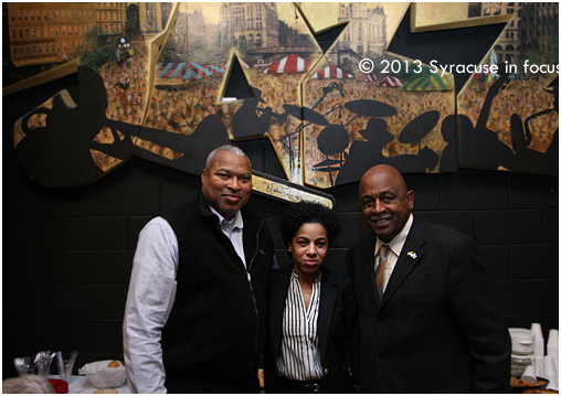 Assemblyman Sam Roberts, Lanessa Owens and Mike Atkins at the party.