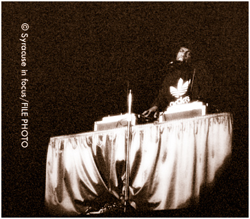 Jam Master Jay at Goldstein Auditorium in 2001.