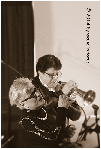 Nancy Kelly & Joe Magnarelli played the third floor ballroom at Mohegan Manor for January Jazz Fest Sunday afternoon.