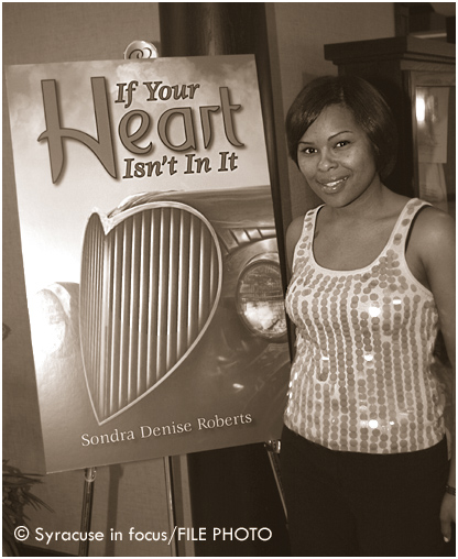 Sondra Denise Roberts at a Go-On-Girl Book Club event