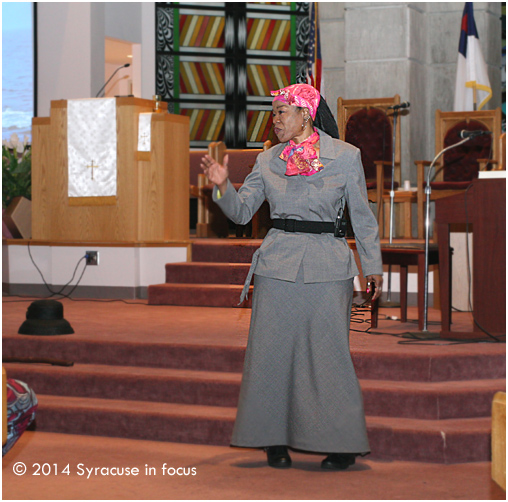 Jackie Grace as Harriet Tubman (at Bethany Baptist Church)