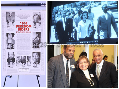 Pioneering Civil Rights workers Rev. LeRoy Wright, Diane Nash and Rev. C.T. Vivian (during their days at Fisk) and last week at Syracuse University commemorating the 50th Anniversary of the Summer of 1964.