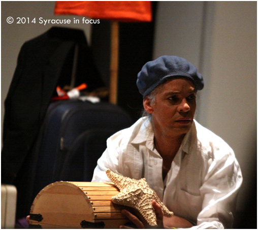 "Juan Miguel Hernandez appeared in the theatrical memoir ""From Cuba to Cuse"" Wednesday night at Syracuse University."
