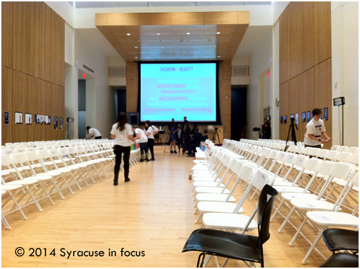 Flex Space: The Joyce Hergenhan Auditorium was set up for a fashion show Friday night.