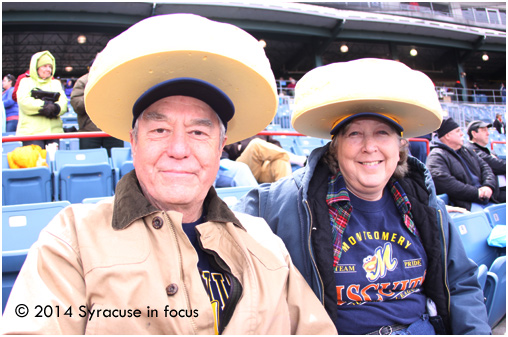 Biscuits Heads on Opening Day
