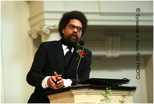 Dr. Cornel West spoke at Syracuse Unviversity about 10 years ago