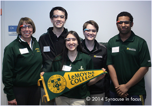 The group from Lemoyne College looked great in their GoogleGlass at the TEDxSyracuse University event.