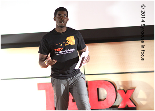 Nathaniel Rose, organizer TEDx Syracuse (giving his closing remarks last night)