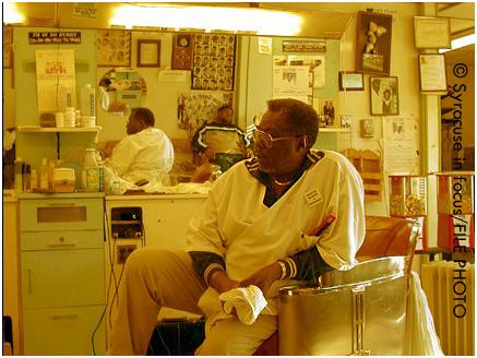 Charleston Collins, barber