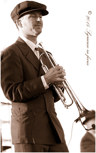 Big Bad Voodoo Daddy trumpet player Glen The Kid Marhevka: The Satorialist