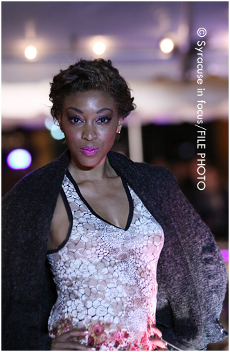 Model, designer, producer, LaKisa Renee participated in an outdoor fashion show downtown