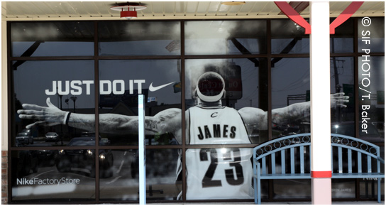 Store Mural of Lebron James (circa 2010)