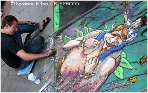 DC artist Mike Tanoory showed off his skills for the Street Painting Festival (circa 2007)
