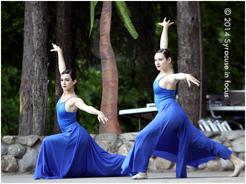 Dancers with the Syracuse City Ballet wore their summer blues at Shakespeare in the Park (Twelfth Night).