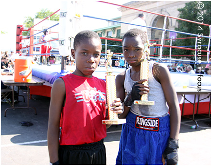 The Watson Bros. brought their formidable boxing skills to the New York State Fair on Saturday.