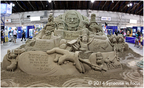 Sand Sculpture tribute to Theodor Seuss Geisel (Center of Progress Building)