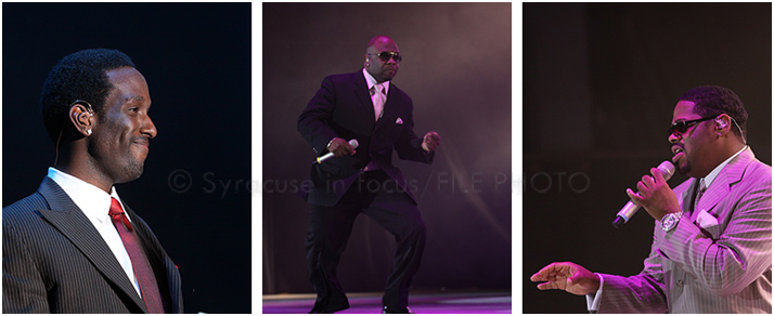 Shawn, Wanya, Nate: Boyz II Men played the NYS Fair in 2009