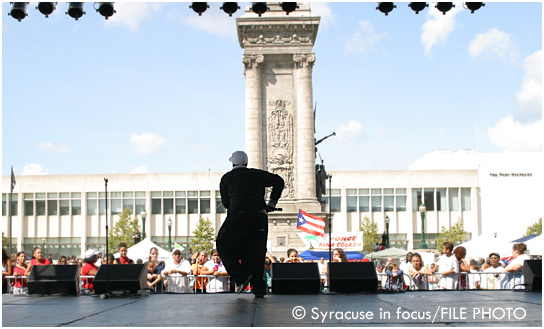 Luther Edwards, singer, Latin American Festival (circa 2008)