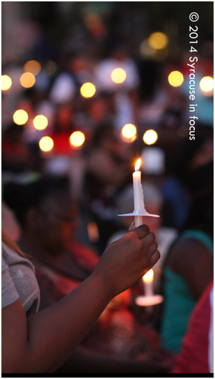 Power 620's Kenny Dees read a roll call list at the 12th Annual Mothers Against Gun Violence Candlelight Vigil and it included names of people who have appeared on this blog, from Luther Edwards and Pleamon Fletcher to Kihary Blue.