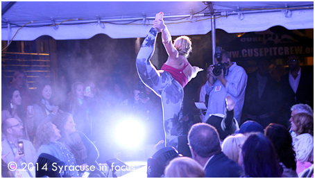 James Bass captured the start of the Lulemon collection at the Syracuse Style Fashion Show.