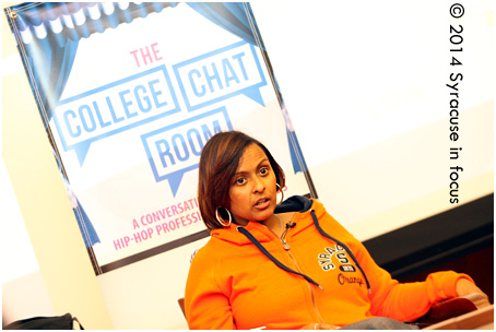 SU Alum (Newhouse) and music exec, turned entrepreneur and author visited campus to speak to students on Thursday.