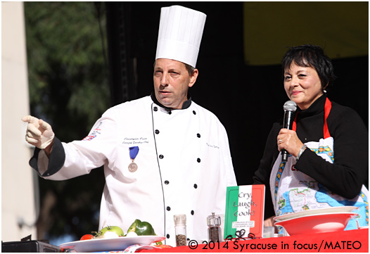 Yvonne Conte talked about her book during a live cooking demonstration (with Chris Cesta) at the Italian Festival.