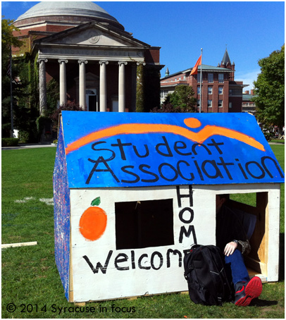 Raising awareness for affordable housing (Syracuse University Main Campus)