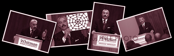 George Fraser at Whitman School of Management (CBT, 2005)