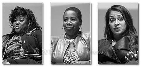Loretta Divine, Iyanla Vanzant and Lala Anthony participated in the Phi Beta Sigma Women of Distinction program at Syracuse University on Wednesday night.