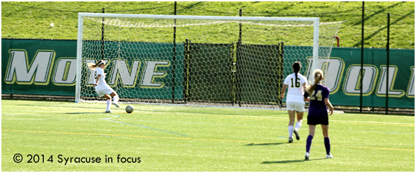 Kristen Colgrove meandered past the goalie and scored an unassisted goal in the second half.