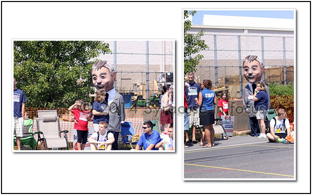 Big Head Bob, the mascot for candidate Robert Antonocci, seemed to be everywhere we turned during this year's election season. Antanocci lost his race for comptroller.