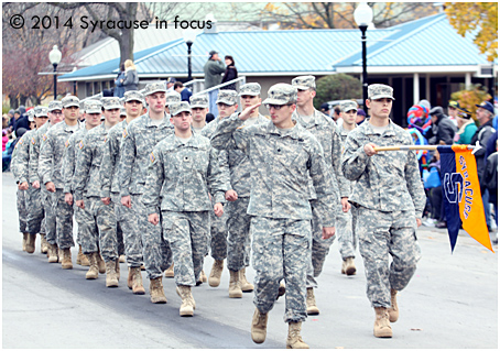 SU Army ROTC participated in the CNY Veterans Parade held at the NYS Fairgrounds on Saturday.