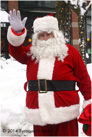 Santa at work in Armory Square