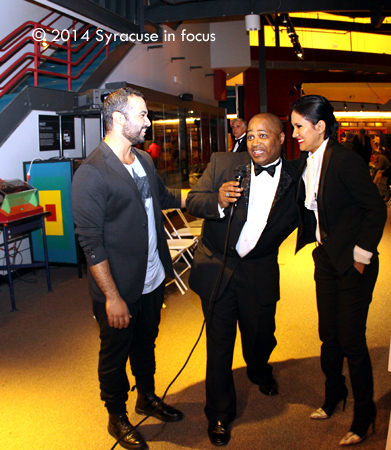 Joe Clark of Runway News  interviews Esmeralda and  Mohamed ElMadawy (Syracuse Fashion Weekend)