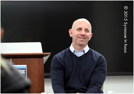 ESPN announcer and SU grad ('84) Sean McDonough spoke at Newhouse School of Communications on Friday.