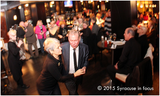 Larry and Margaret Luttinger dance to the sounds of Nancy Kelly at Friday night's Sitrus event.