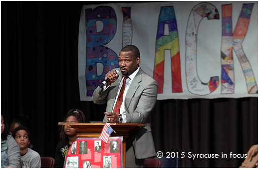 Syracuse Common Councilor Khalid Bey talked about his transition from college athletics to working in government.
