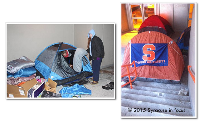 By 5:30 pm, drugstore as the temperature dipped to single digits and wind chills made things worse, ailment students were packing up their tents and leaving Boeheimburg. They will return to line up again on Friday, but then they will be inside the temperature-controlled Carrier Dome. A record crowd is expected for the SU v. Duke game on Saturday.