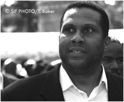 Tavis Smiley, Author, Radio/TV host (circa 2005) in Washington, DC