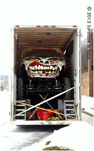Zombie in the House: The Monster Truck was on display at Wegmans in Dewitt this afternoon.