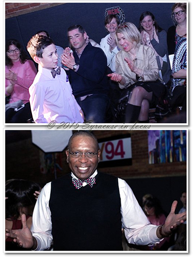 9-year old RJ (top) got plenty of applause during his walk on the runway and Every Day Bow Ties designer (owner) Geraldo De-Souza was all smiles after his designs caught the attention of the crowd.