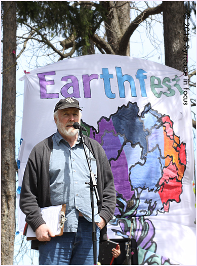 Paul Otteson, a staffer from SUNY ESF, attended the first Earth Day in 1970 (Philadelphia). He talked to the crowd at Thornden Park who gathered for Syracuse's Earthfest.