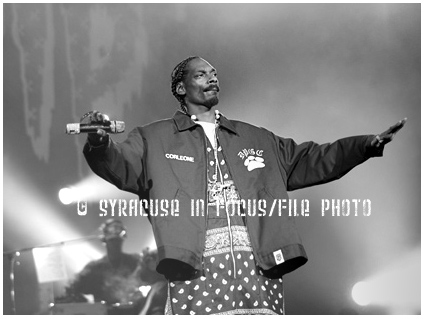 Snoop, aka The Dogg Father, Snoop Lion, and the D.O. double G will make a return to the area for the New York State Fair this summer. He is pictured here from 2005 in the Carrier Dome.