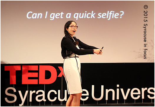 Professor Charisse L'Pree sees selfies as the new poetry and encourages judicious sharing.