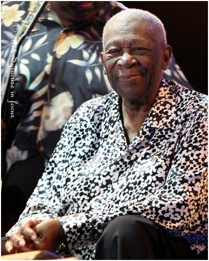 B.B. King on stage at last year's Syracuse Jazz Fest.