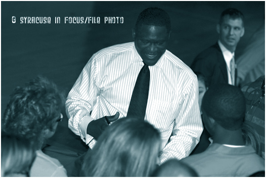 NBA Hall of Fame Player Dominique Wilkins visited Fowler High in 2009.