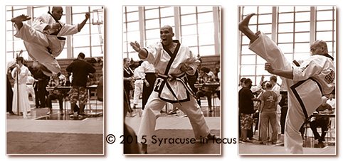 Martial Arts expert Michael Simmons returned again this year to compete in the Syracuse Open Martial Arts Tournament (Syracuse University).