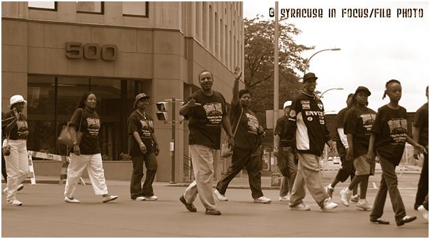 Rev. Phil Turner and members of Bethany Baptist Church marched in the 2004  Juneteenth Parade